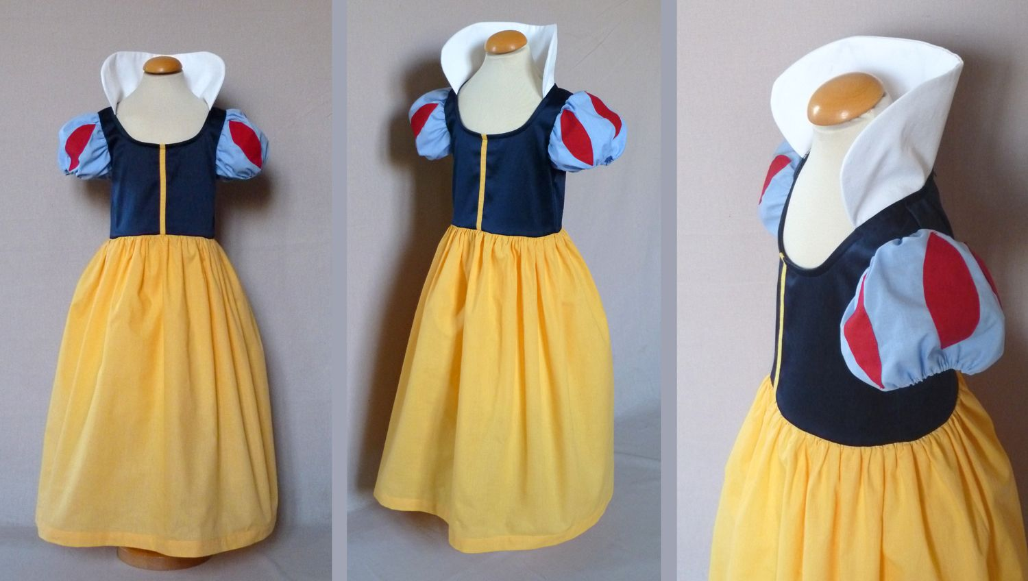 Manches robe blanche neige