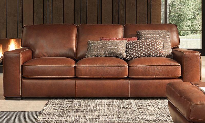 Natuzzi Campbell Top Grain Leather Sofa Top Grain Leather Sofa