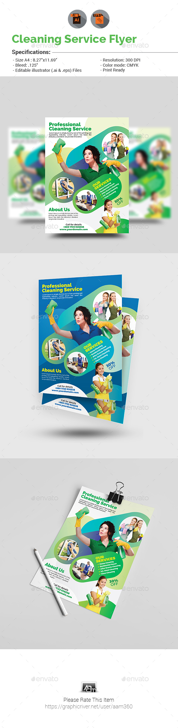 Cleaning Services Flyer   Cleaning service, Flyer template and Template