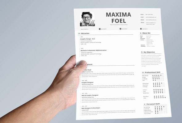 Single Page Resume Template by Simanto, via Behance Other