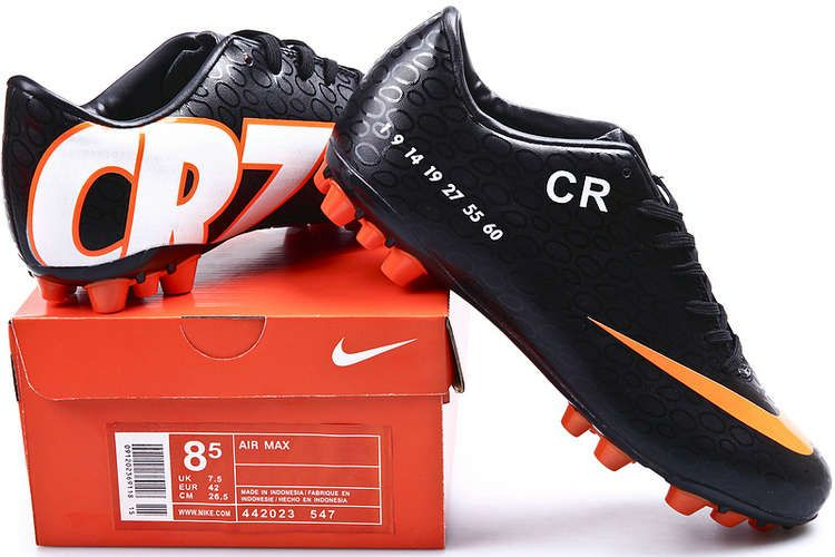 newest c9937 e85d8 Nike Mercurial Vapor IX CR7 AG Cleats - Black Orange Peel