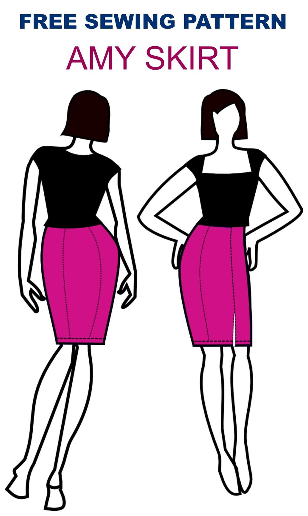 Amy Skirt Pattern | Pinterest | Falda, Costura y Ropa