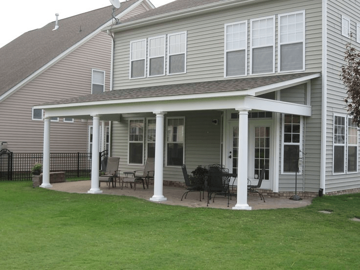 Shed Roof Screened Porch Patio Makeover Backyard Porch
