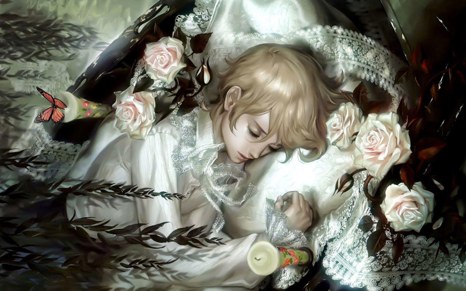 Открытки аниме розы, открытки днем рождения