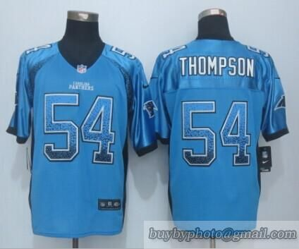 NFL Carolina Panthers #54 Thompson Drift Fashion Blue Elite Jersey. Shaq  ThompsonNfl Carolina PanthersNike ...