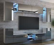 Hochwertig Wohnwand GALAXY 270 NEUE BESSERE VERSION MDF Hochglanz Concept Mediawand LED