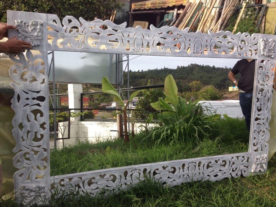 espejo, con marco calado 2,20 x 1,30 altura | mesas, comodas ...