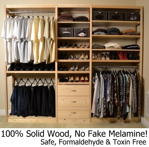 Lundia Usa Solid Wood Built To Last A Lifetime Simple Closet
