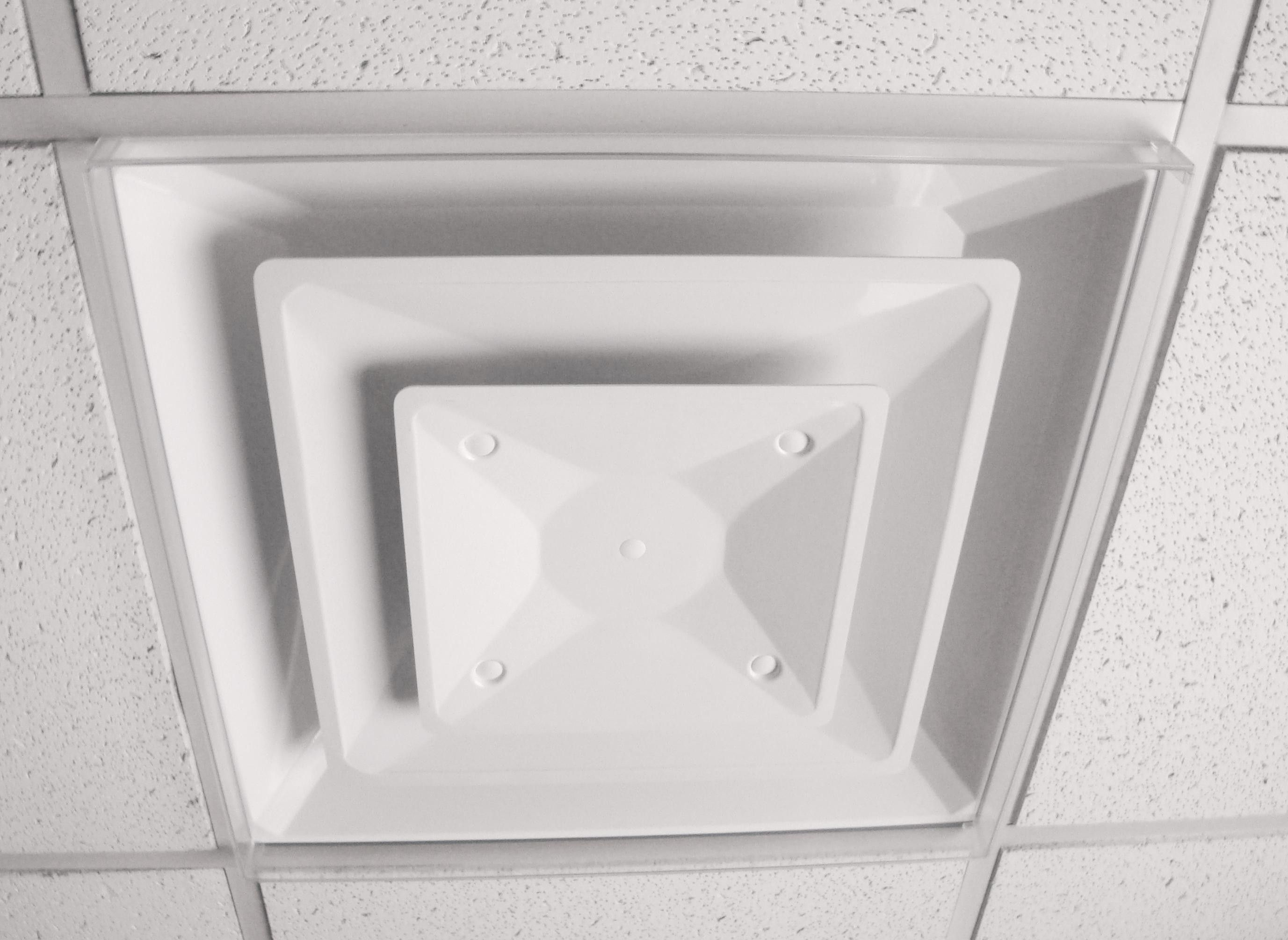 clear ceiling dust deflectors, keep dust from forming