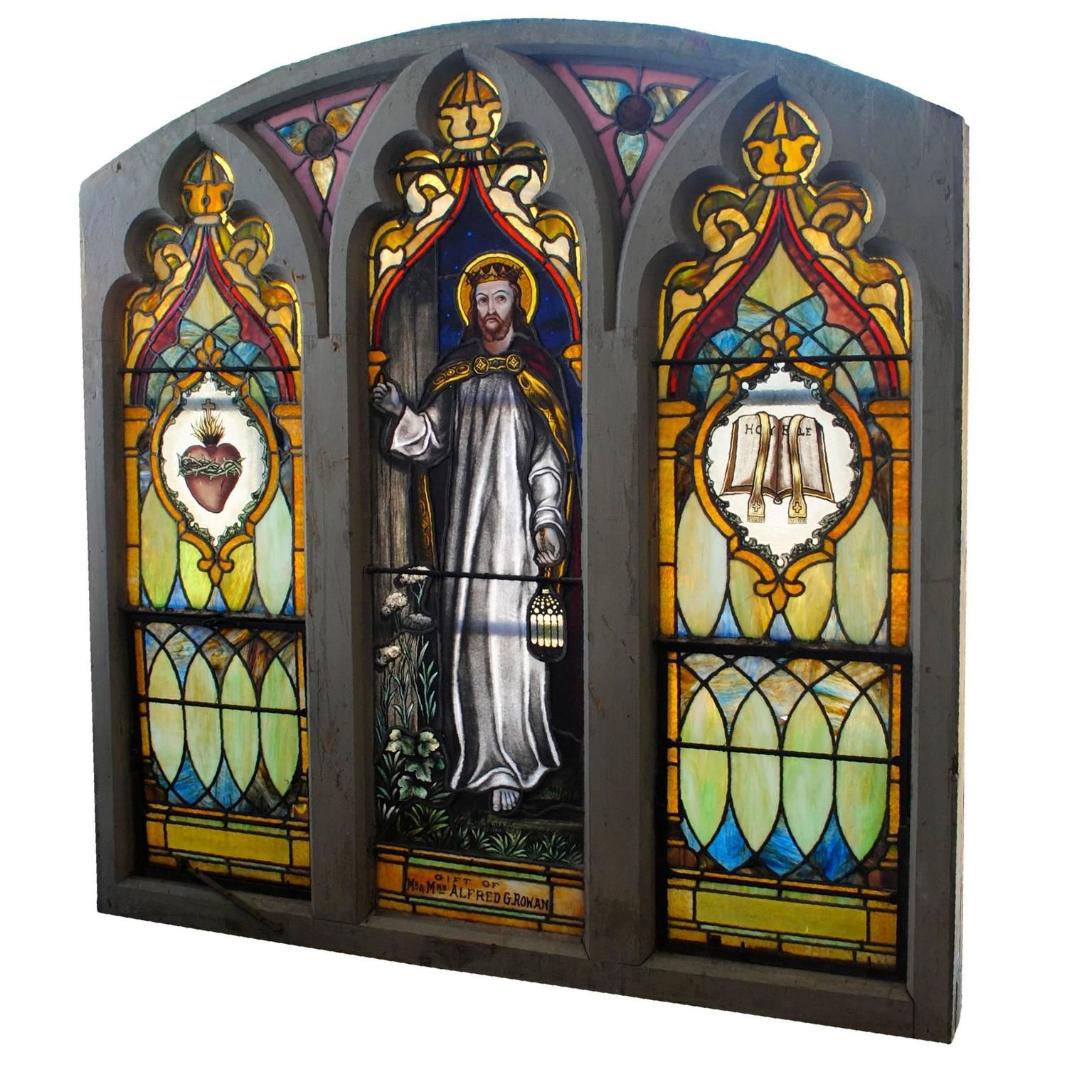 Antique Stained Glass Windows For Sale Church.Vintage Stained Glass Church Window Antiques Stained