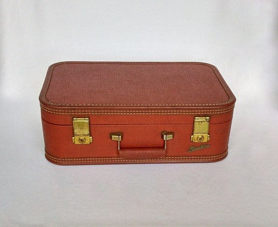 Small Vintage Suitcase, Mens Luggage, Old Suitcase, Vintage ...