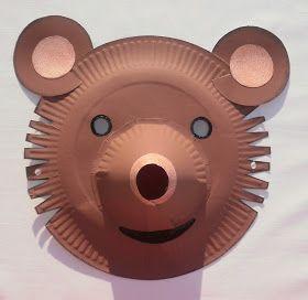 masque lion masque r alis avec 2 assiettes en carton superpos es la crini re est en laine le. Black Bedroom Furniture Sets. Home Design Ideas