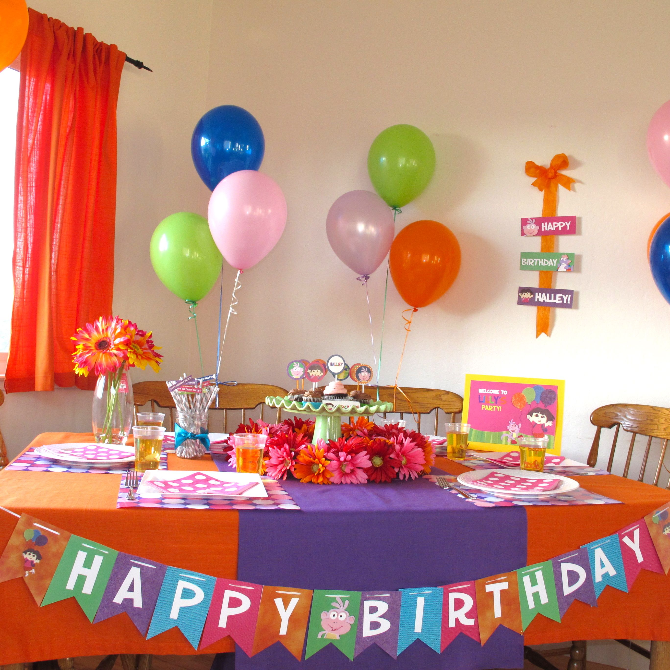 Dora the Explorer Party Pics Banners Birthdays and Birthday party