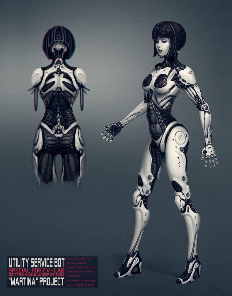 Android Girl By Gottsnake Deviantart Com On Deviantart Cyborg Girl