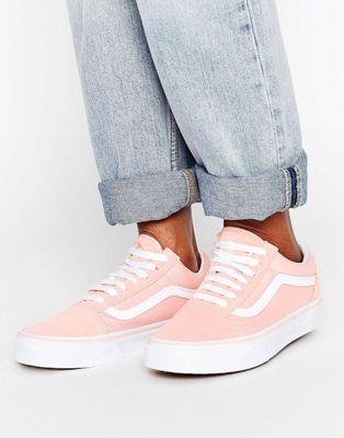 8c82b314a700e4 Vans Classic Old Skool Sneakers In Peach