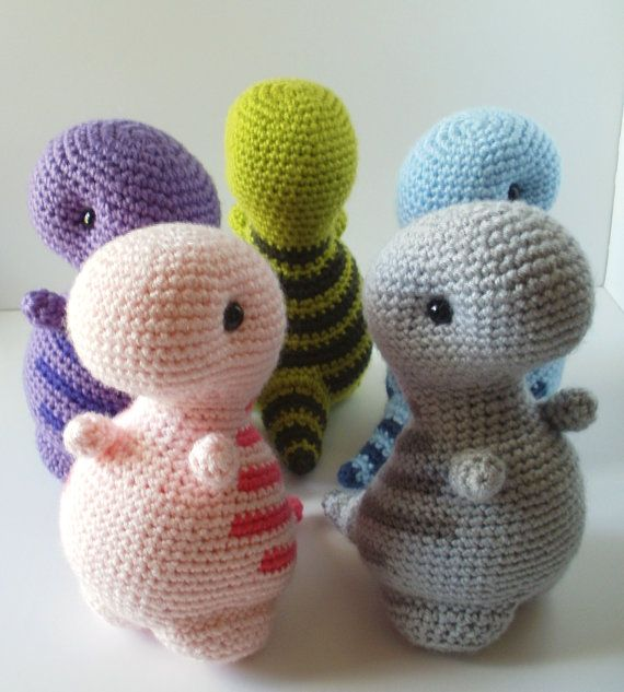 Crochet Pattern: Timothy the T-Rex by BluephoneStudios on ...
