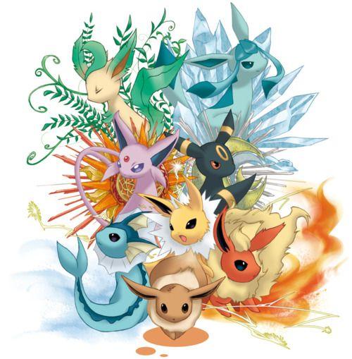 Eeveelutions pok mon pokemon evoli evoli pok mon - Pokemon famille pikachu ...