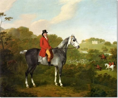 Edward Rushton of Slade House Levenshulme on his Grey Hunter by John Boultbee (1752-1812)
