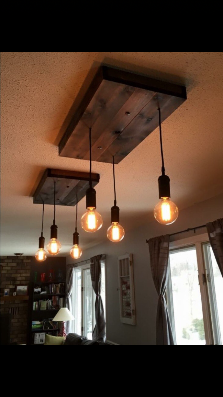 Rustic Lights Above Our Dining Room Table I Love How These Turned Out Facebook Thetarnishedhome Instagram Th Verlichting Ideeen Hangende Lichten