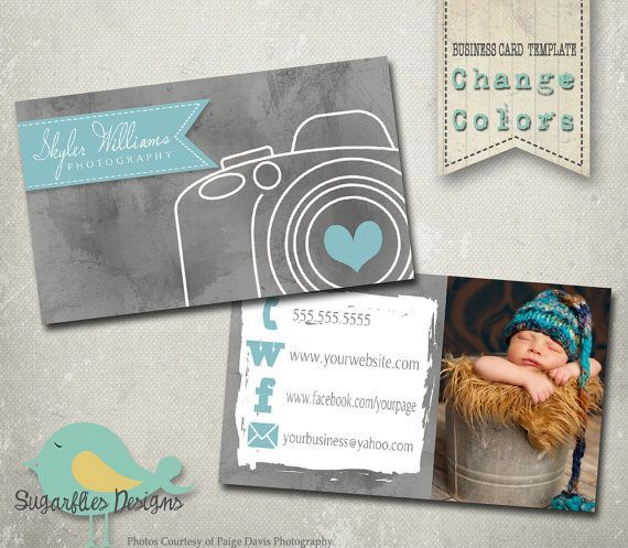 Business card template etsy hints pinterest card templates photography business card templates business by sugarfliesdesigns wajeb Gallery