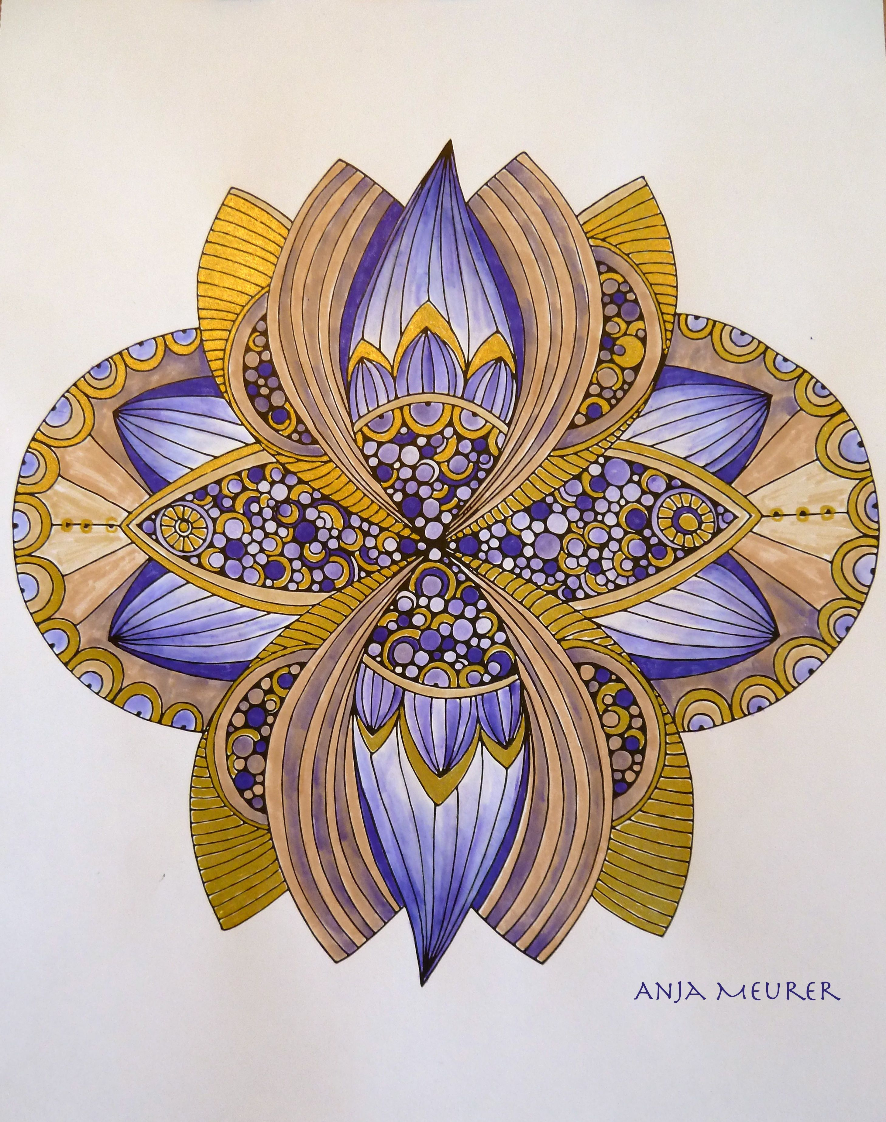 Picture from Creative Coloring Mandalas by Valentina Harper ...
