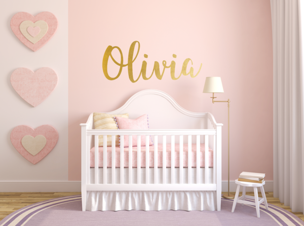How cute would this custom wall decal be in a nursery