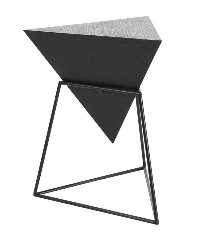 wood metal triangle end table furniture pinterest triangles