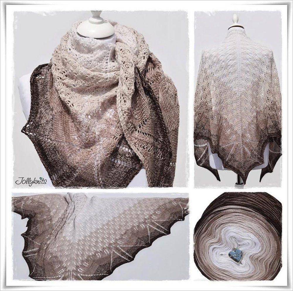 Lace Shawl Latte Macchiato Knitting pattern by Jolanda Schneider