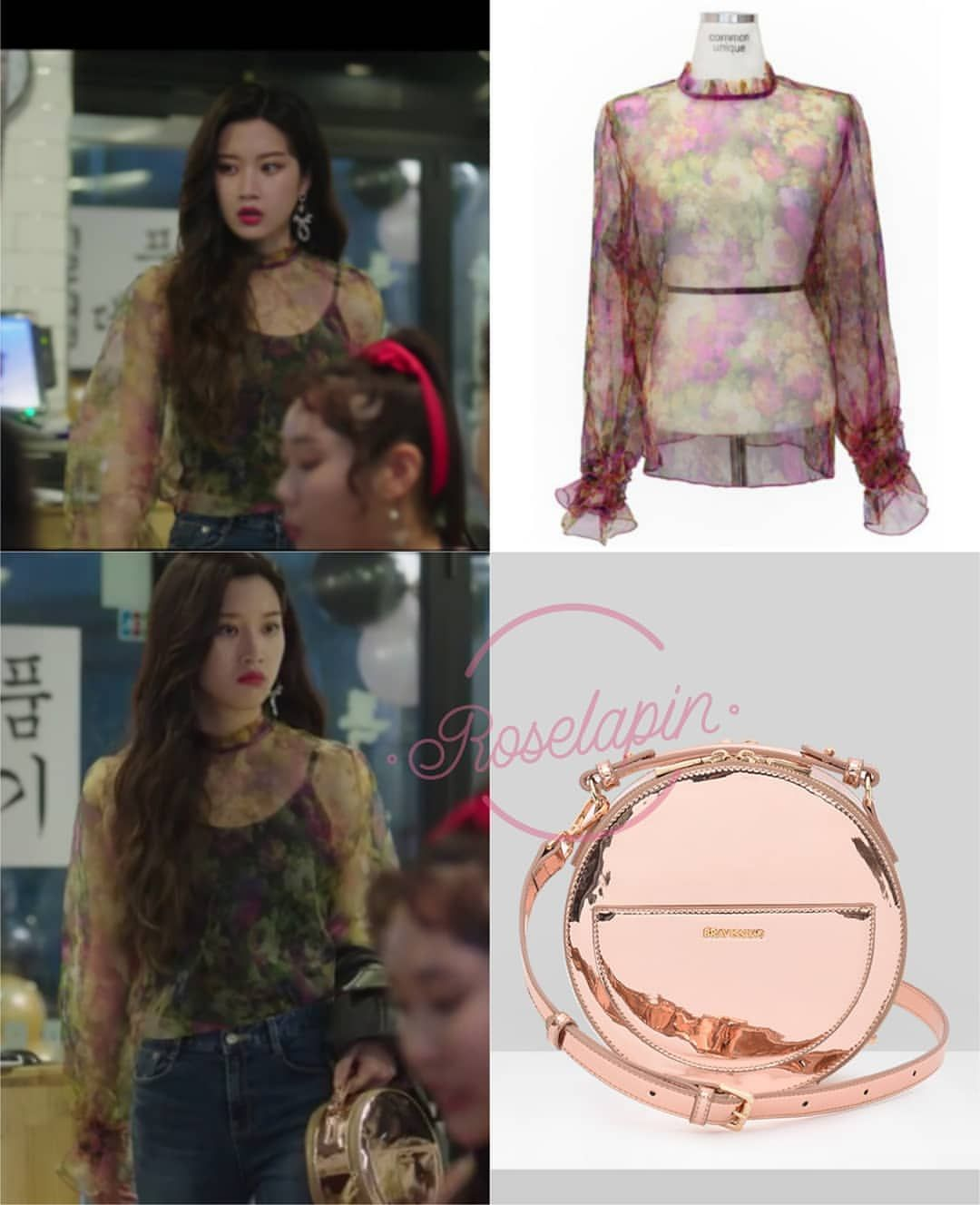 Moon Gayoung Tempted Commonunique See Through Blouse 39 800 Bravissimo Bag 95 000 Korean Fashion Drama Clothes Young Fashion