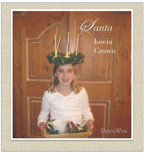 DIY Santa Lucia Crown (dollar Store Supplies)