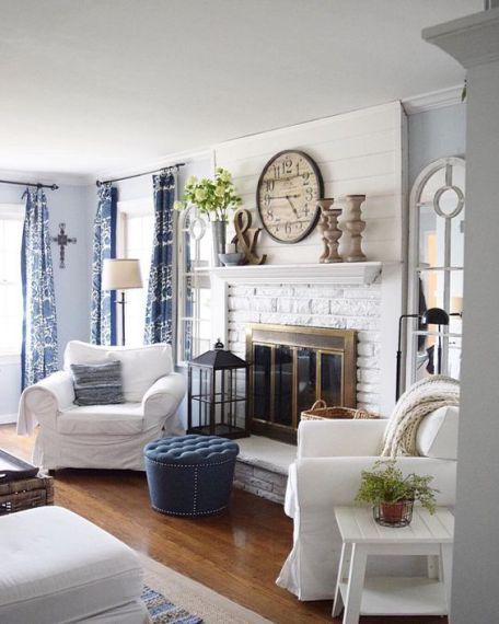 45 Comfy Rustic Farmhouse Living Room Design Idea