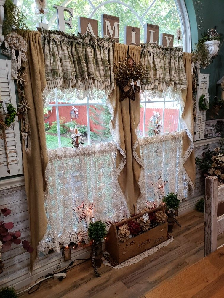 More Curtains On My Favorite Window Country House Decor