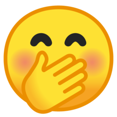 Face With Hand Over Mouth On Google Android 9 0 Emoji Smiling Eyes Smiley Emoji