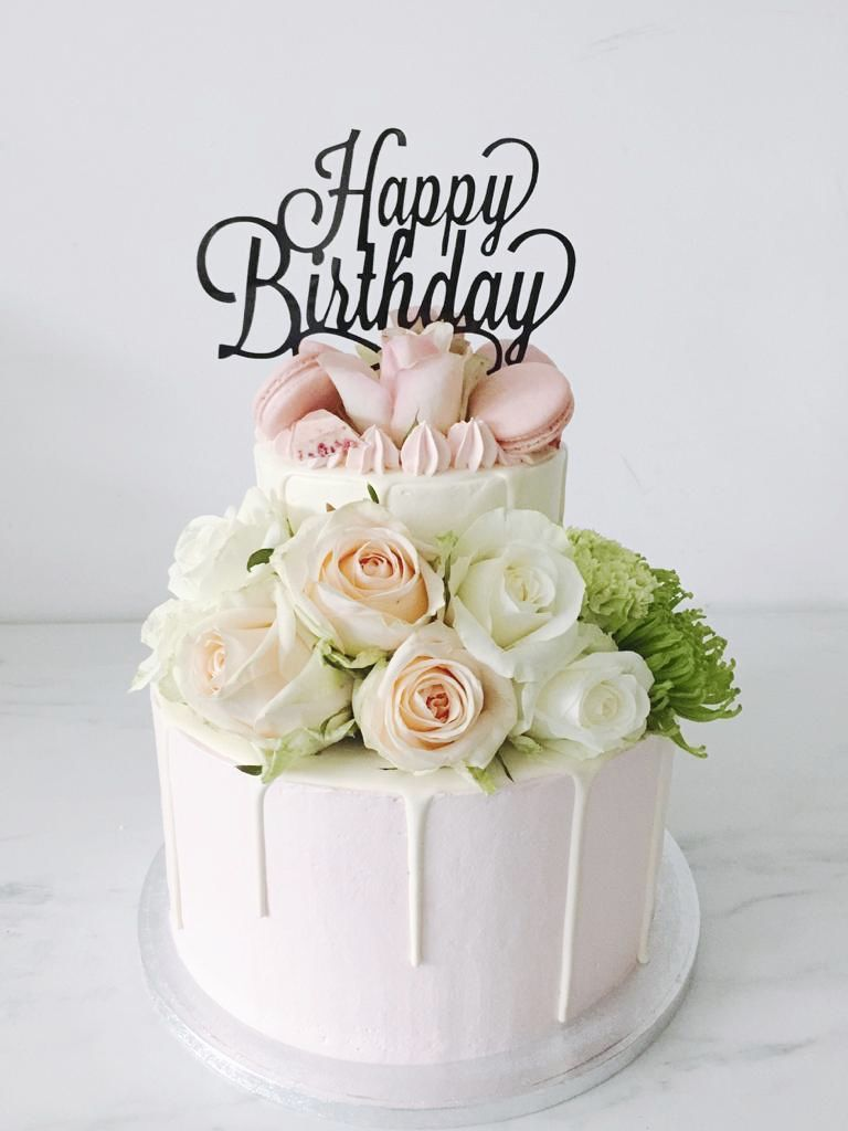 Pin By Alda On Happy Birthday Flower Happy Birthday Cupcakes Happy Birthday Cake Images Happy Birthday Wishes Cake