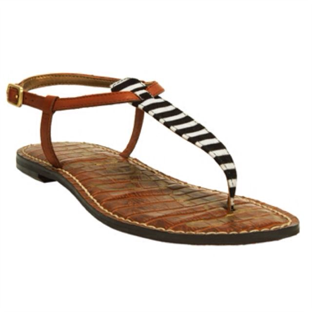 24cac66cd96f Sam Edelman Gigi Stripe T-Strap Flat Sandal http   www.vonmaur