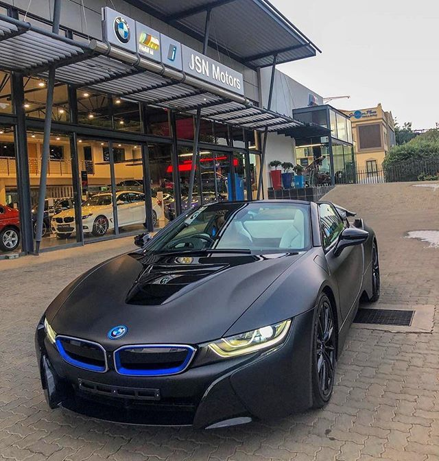 Feelgoodfriday With This Menacing Matte Black Bmw I8 Roadster From