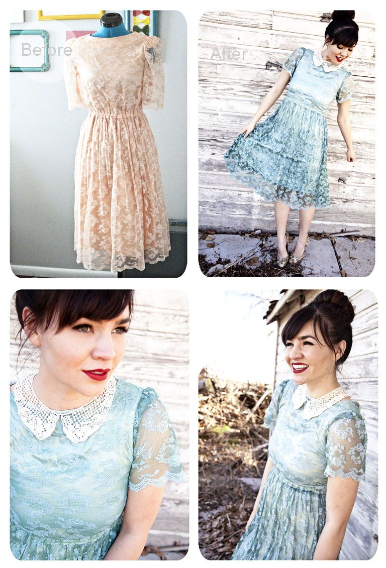 Lace Dress Refashion by Sarah of Wearing it on my Sleeves | Sew ...