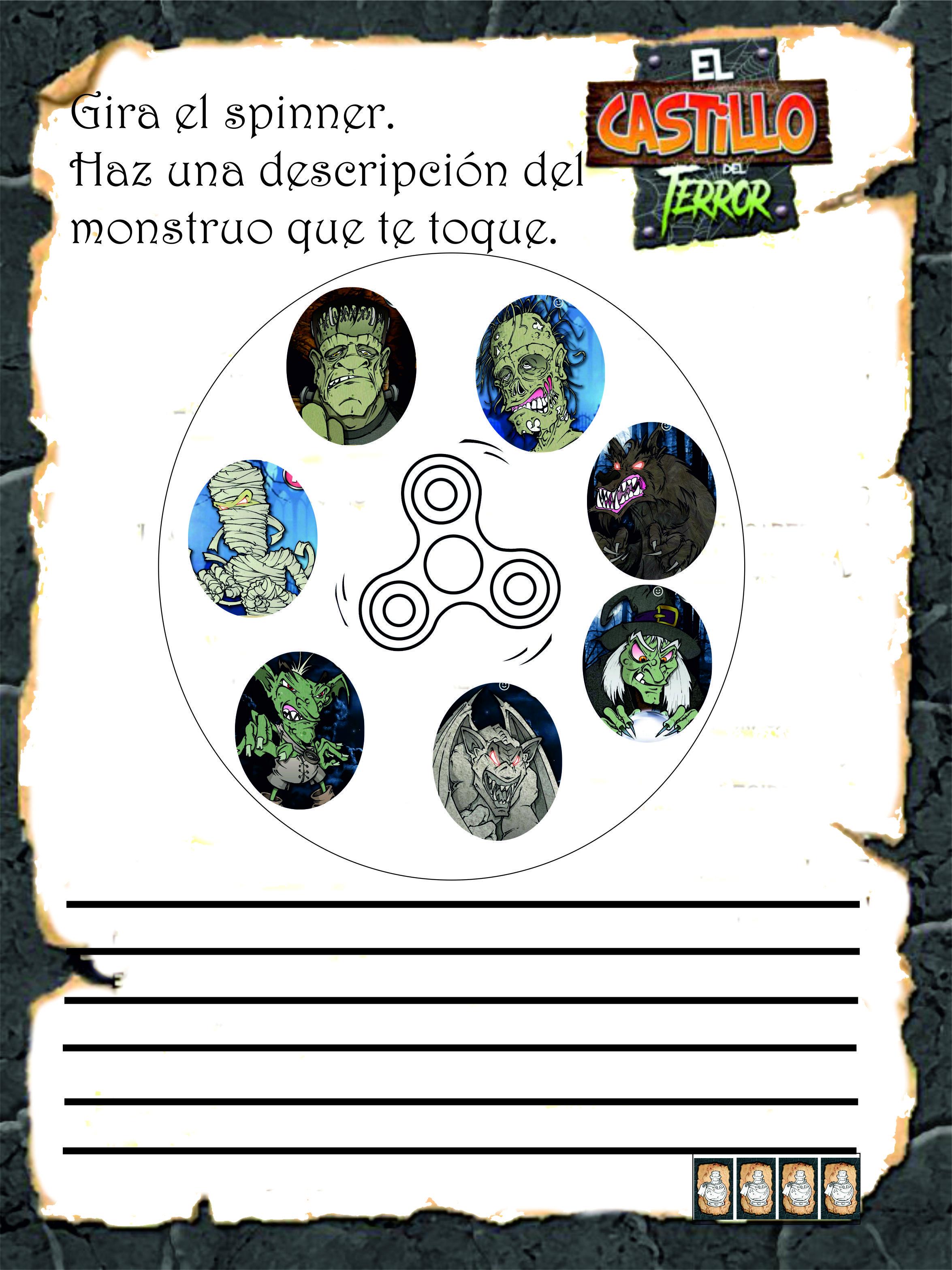 Juego De Mesa Para El Aula Cuadernillo Actividades El Castillo Del Terror Actividades Competencias Y Habilidades Juegos