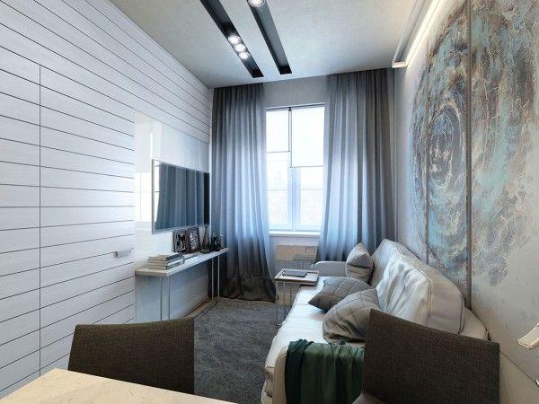 extrem kleine Zweiraumwohnung mit schickem Interieur Design   kleine ...