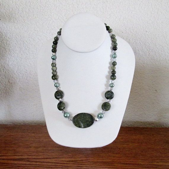 Green Polished Gem Stones Faux Green Glass by NotSoBoringJewelry, $25.00