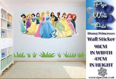 Disney Princesses children\'s bedroom wall sticker bedroom ...