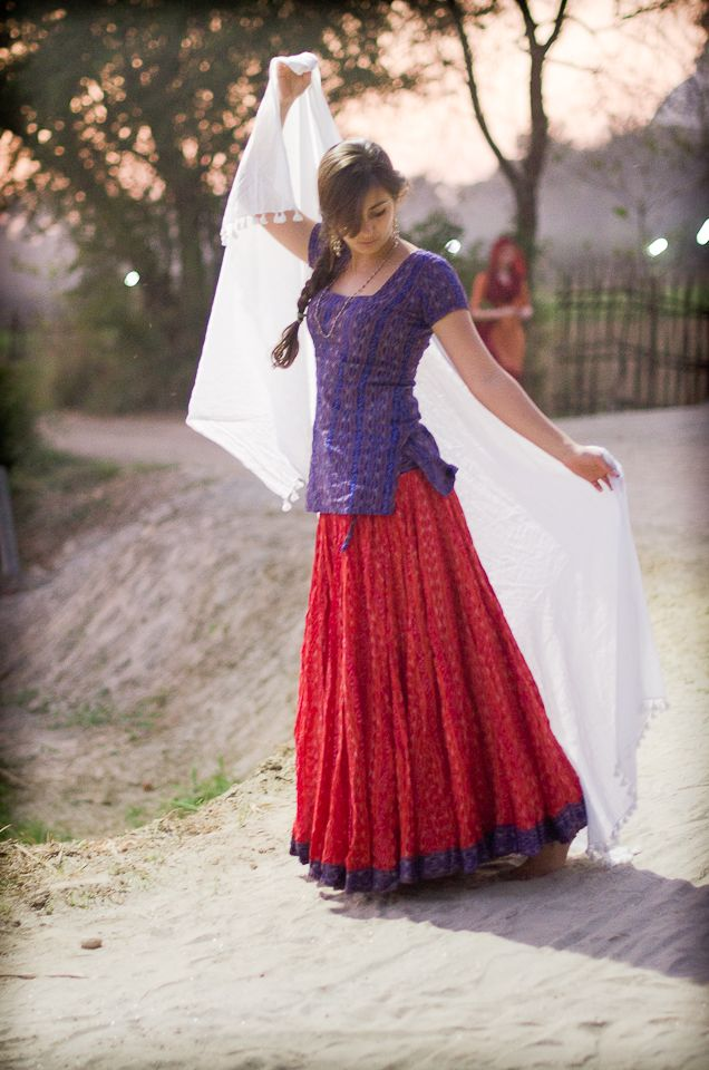 Ikat Gopi Skirt Outfit Long top | Saris | Pinterest | Ikat, Indian ...