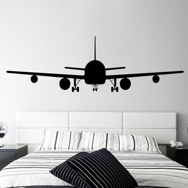 Vinilo Avion Decoración De Aviación Decoración De Dormitorio Para Hombres Decoracion De Paredes Dormitorio