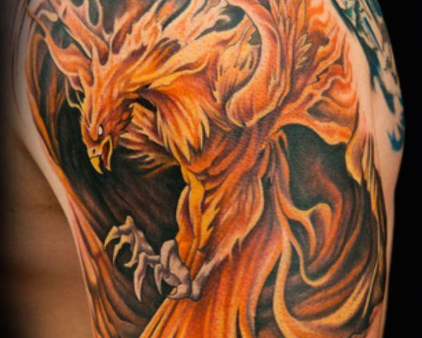 Tatuaje De Ave Fénix El Pájaro Mítico Que Se Asocia Con El