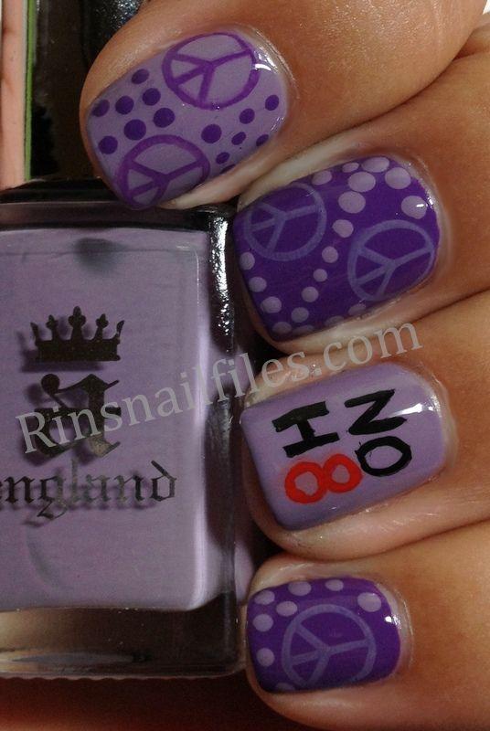 Purple peace sign | Nail Art ideas for Amy | Pinterest | Peace ...