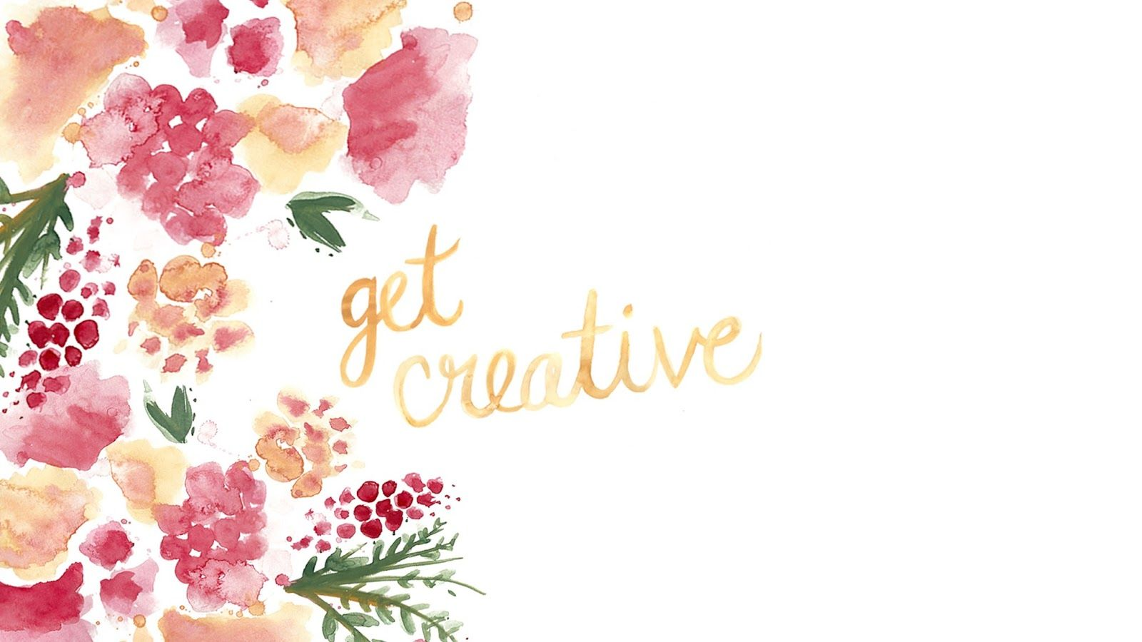 Get Creative Watercolour Desktop Wallpaper Background