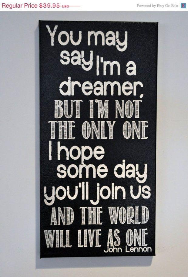 Thanksgiving Sale Imagine - John Lennon - Canvas Art wall decor ...