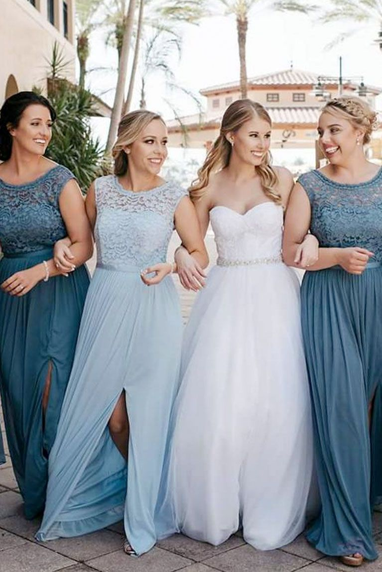 Grey Toned Steel Blue And Chilly Ice Blue Go Perfectly Togethe Davids Bridal Bridesmaid Dresses Davids Bridal Bridesmaid Dresses Blue Bridal Bridesmaid Dresses [ 1149 x 767 Pixel ]