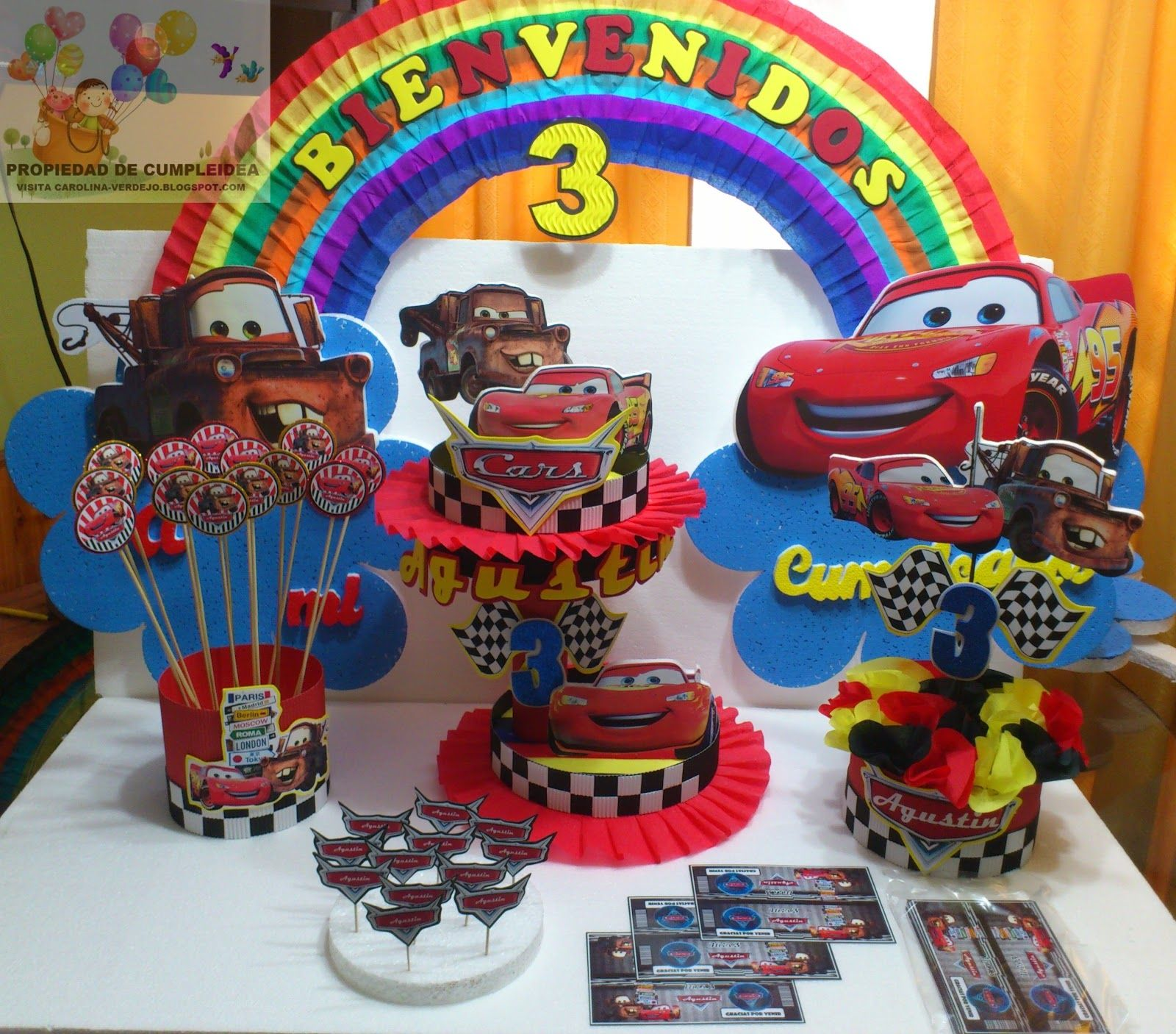 decoraciones para fiesta | DECORACIONES INFANTILES: CARS ...
