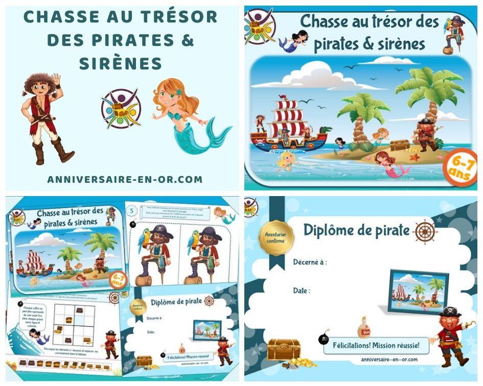 Jeu anniversaire pirates et sirènes (6-7 ans) - Un Anniversaire en Or en 2020 | Chasse au trésor ...